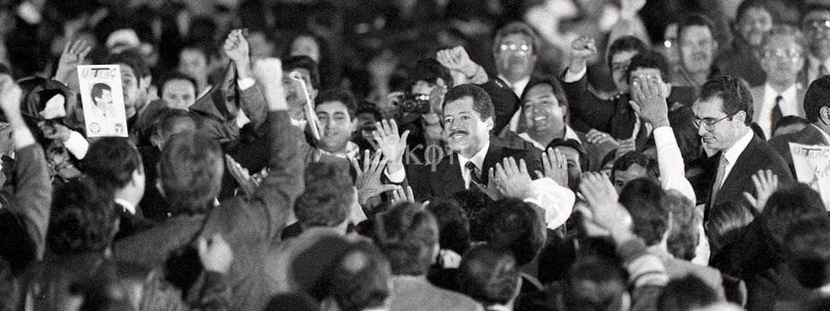 Las imágenes por la democracia de Eloy Valtierra